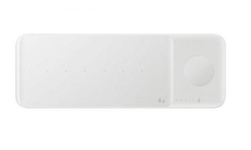 Фото - Зарядное устройство беспроводное Samsung EP-P6300TWRGRU с функцией быстрой зарядки EP-P6300, белое беспроводное зарядное устройство samsung ep p1100 usb c 1a черный ep p1100bbrgru
