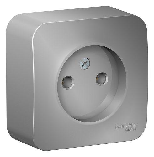 Розетка Schneider Electric BLNRA000103 б/з без шторок, 16А, 250В Алюминий наруж
