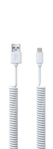 Кабель интерфейсный Red Line Spiral УТ000015708 USB-Lightning, белый