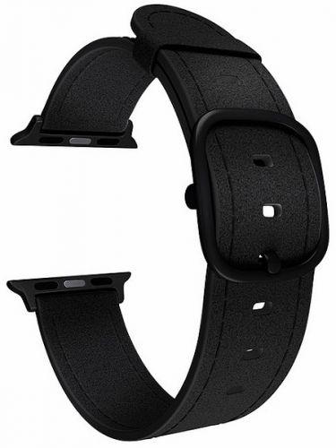 Ремешок на руку Lyambda MINKAR DSP-03-40 кожаный для Apple Watch 38/40 mm black ремешок lyambda pollux для apple watch 38 40 mm dsp 24 40 bk черный
