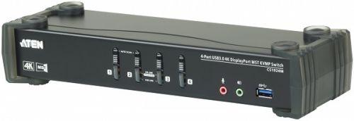 Переключатель KVM Aten CS1924M-AT-G 4-портовый, USB 3.0, DisplayPort, с поддержкой 4K и MST, кабели в комплекте