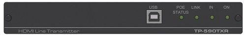 Передатчик Kramer TP-590TXR 50-80317090 HDMI, Аудио, RS-232, ИК, USB по витой паре HDBaseT, поддержка 4К60 4:2:0, POE
