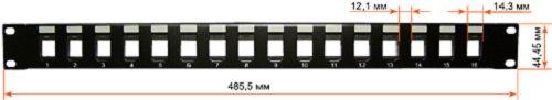 Патчпанель Lanmaster LAN-PP16OK-STP наборная 19
