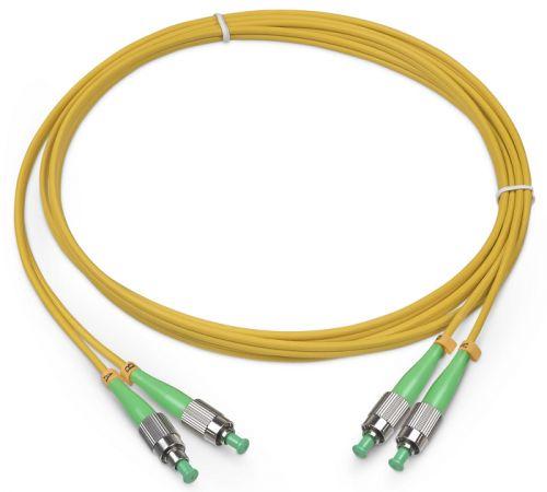 Кабель патч-корд волоконно-оптический TopLAN DPC-TOP-652-FC/A-FC/A-3.0 дуплексный, FC/APC-FC/APC, SM, 3.0 м LSZH