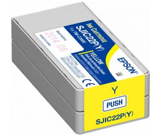 Фото - Картридж Epson SJIC22P(Y) C33S020604 INK CARTRIDGE FOR TM-C3500 принтер epson tm c3500 012cd c31cd54012cd