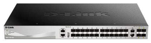 Фото - Коммутатор D-link DGS-3130-30S/A1A 24x10/100/1000 SFP, 2x10GBase-T, 4x10GBase-X SFP+, L3 sfp трансивер d link 311gt a1a