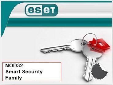 Eset NOD32 Smart Security Family продление лицензии на 1 год на 5 устройств