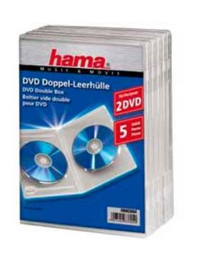 Коробка для CD/DVD HAMA H-83894 00083894 Jewel Case для 2xDVD 5 шт. пластик прозрачный