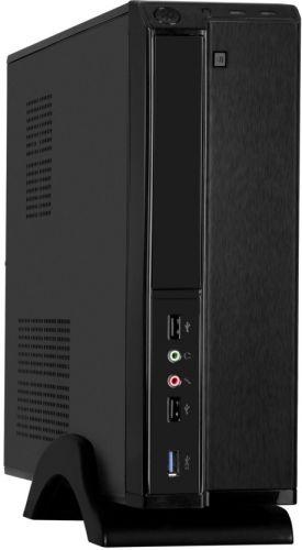 Корпус mATX Exegate MI-207U-M400 EX288782RUS черный, БП M400 с вент. 8см, 2 USB, USB3.0, аудио