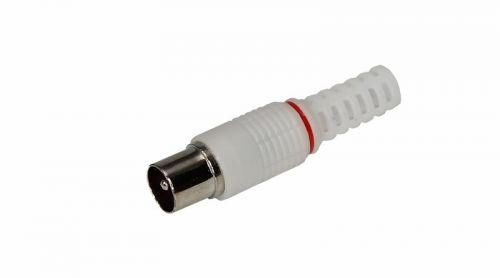 Разъем Rexant 05-2041 штекер TV без пайки белый