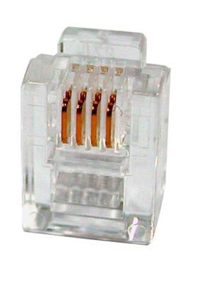 Коннектор Cabeus 6P4C телефонный RJ-11 коннектор rj 12 6p4c 100шт proconnect 05 1012 3