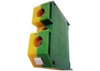 Клемма IEK YZN20-035-K52 ЗНИ-35 мм.кв. ЗЕМЛЯ желто-зеленая