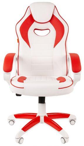 Кресло офисное Chairman game 16 Chairman 7030050 экопремиум белый/красный офисное кресло chairman game 20 mebelvia
