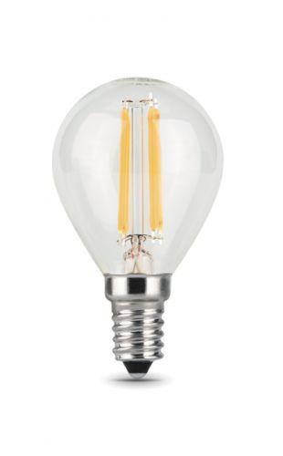 Лампа светодиодная Gauss 105801111 Filament Шар E14 11W 720lm 2700K 1/10/50 светодиодная лампа gauss black filament led candle tailed e14 11w 2700k 104801111