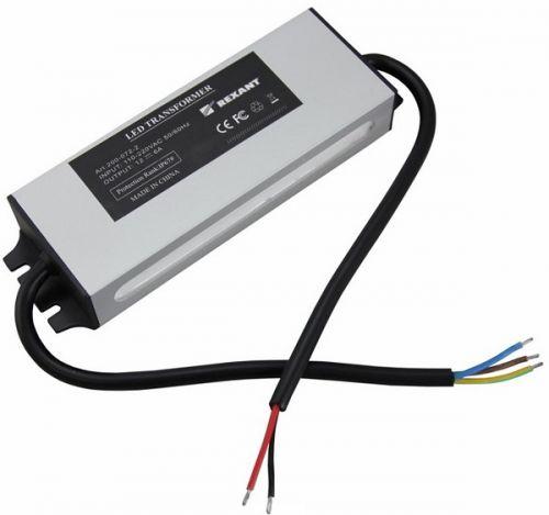 Источник питания Rexant 200-072-2 110-220V AC/12V DC, 6А, 72W с проводами, влагозащищенный (IP67)