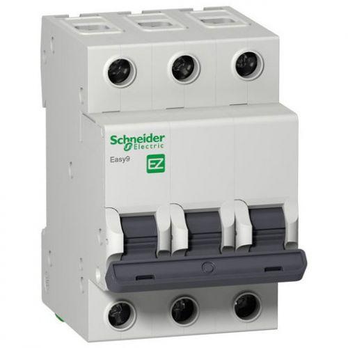 Фото - Автоматический выключатель Schneider Electric EZ9F34306 EASY 9 3P 6A (C) автоматический выключатель schneider electric easy 9 1p c 4 5ka 20 а