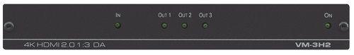 Усилитель-распределитель Kramer VM-3H2 10-804080290 1:3 HDMI UHD, поддержка 4K60 4:4:4, HDMI 2.0