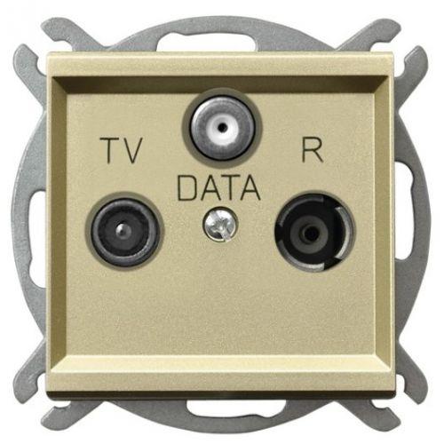 Розетка Ospel GPA-RD/m/39 RTV-DATA, шампанский золотой