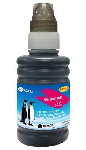 Чернила G&G GG-T6641BK черный (100мл) для Epson L100, L110, L120, L130, L132, L210, L222
