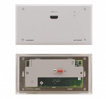 Приемник Kramer WP-580R/EU(B)-86 50-800440290 HDMI, RS-232 и ИК по витой паре HDBaseT с разъемом DVI-I, до 70м, поддержка 4К60 4:2:0