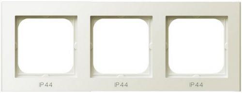 Рамка Ospel RH-3R/27 для выключателей IP-44, тройная, экрю