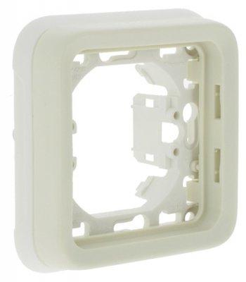 Фото - Рамка-суппорт Legrand 69692 Plexo 1-ая, для внутреннего монтажа IP55 (белая) суппорт legrand 653178 для монтажа механизмов эуи 2 3 модуля