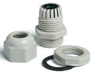 Кабельный ввод Hyperline PG-7 (зажим кабельный с контргайкой), под кабель D3-6.5мм, IP68, цвет серый