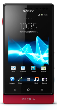 Sony Xperia sola MT27i red