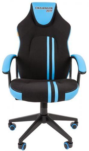 Кресло офисное Chairman game 26 Chairman 7053959 черн.голубой офисное кресло chairman game 20 mebelvia