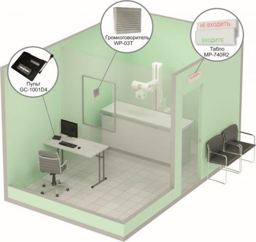 Комплект HostCall MP-912W2 вызова для светового и звукового информирования о занятости и освобождении сотрудников в кабинетах