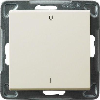 Выключатель Ospel LP-11R/m/27 двухполюсный, 16AX, 250V, 3520W, IP-20, клеммы безвинтовые, экрю