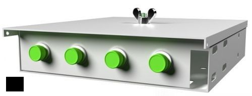 Кросс оптический настенный коробочный TELCORD КН-4 4-ST/SM-4-ST/UPC-SM-BK 163х123х23 мм, 4 адаптера ST/SM, 4 пигтейла ST/UPC SM (OS2 9/125), чёрный