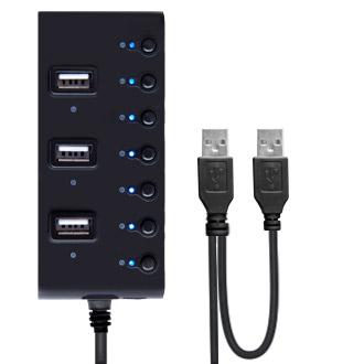 Ginzzu Разветвитель USB 2.0 Ginzzu GR-487UB