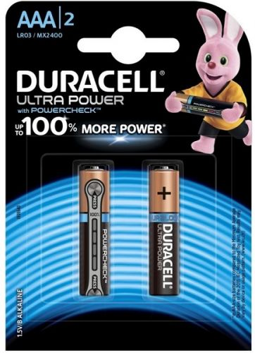 Батарейка Duracell LR03 Ultra Power 2шт, size ААА, MX2400 aaa батарейка duracell ultra power lr03 4bl mx2400 4 шт