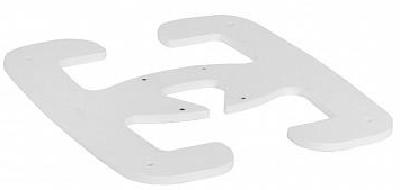Основание Legrand 653086 передвижное для мини-колонн из стали, цвет белый
