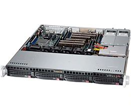 Корпус серверный 1U Supermicro CSE-813MFTQ-R606CB 600W Redundant Power Supply, 4x 3.5in Hot-Swap SAS / SATA Bays, Rails Kit