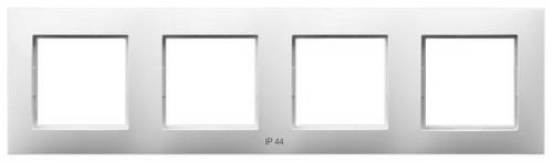 Рамка Ospel RH-4R/00 для выключателей IP-44, четверная, белый