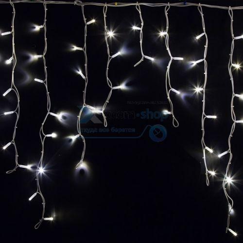Фото - Гирлянда NEON-NIGHT 255-285 айсикл (бахрома) светодиодный, 5,6 х 0,9 м, белый провод каучук, 230 В, диоды белые, 240 LED гирлянда neon night бахрома айсикл 255 245 560х90 см 240 ламп белый черный провод