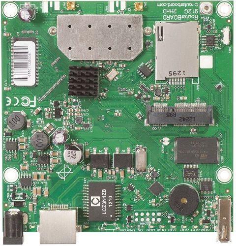 Материнская плата Mikrotik RB912UAG-2HPnD L4,64MB DDR2,Atheros AR9342 600MHz,802.11b/g/n,(1) Gigabit port with Auto-MDI/X,PoE: 8-30V DC