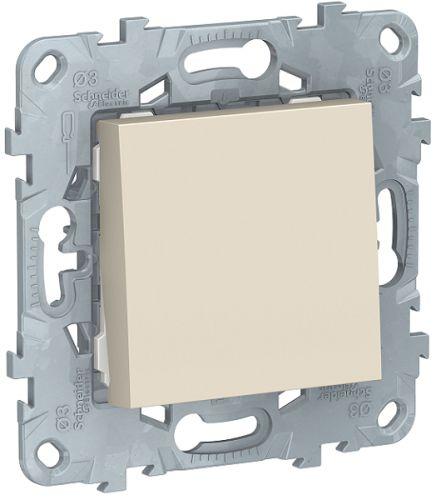 Фото - Выключатель Schneider Electric NU520144 UnicaNew, беж, 1-клавишный, сх. 1, 10 AX, 250В выключатель schneider electric nu520118 unicanew белый 1 клавишный сх 1 10 ax 250в