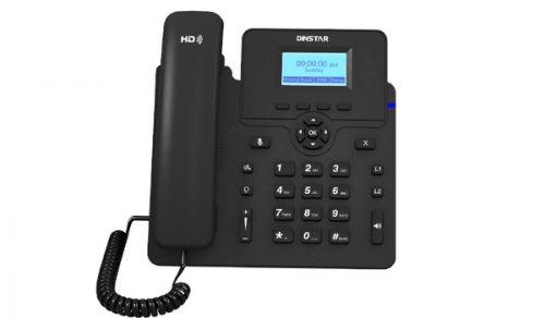 Телефон VoiceIP Dinstar C61SP 10/100, 2 SIP аккаунта, ЖК дисплей 132x64, 3-х сторонняя конференция,POE