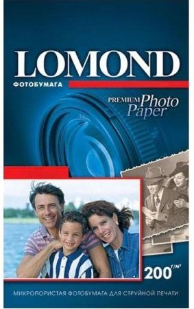 Фотобумага Lomond 1106203 для струйной печати 200 г/м2 односторонняя Super Glossy Bright 10х15, 750лист.в пач.