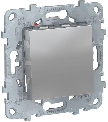 Фото - Переключатель Schneider Electric NU520530 UnicaNew, алюминий, 1-клавишный, перекрестный, сх.7, 10 AX, 250В выключатель schneider electric nu520118 unicanew белый 1 клавишный сх 1 10 ax 250в