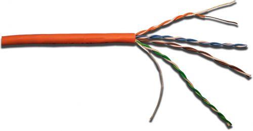 Кабель витая пара U/UTP 5e кат. 4 пары Lanmaster LAN-5EUTP-OR ,200Mhz,PVC,оранжевый (305м) недорого