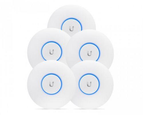 Фото - Точка доступа Ubiquiti UniFi AC LR 5-pack Wi Fi 802.11ac, Dual-Radio Long Range 867 Mbps, indoor, работает с контроллером UniFi, комплект 5шт wi fi точка доступа ubiquiti unifi ac lite белый