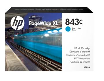 Фото - Картридж HP 843C C1Q66A с голубыми чернилами 400 мл для PageWide XL 5000/4x000 картридж hp 843c c1q68a с желтыми чернилами 400 мл для pagewide xl 5000 4x000