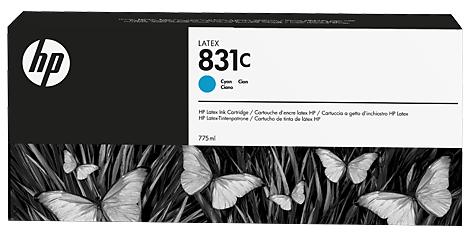 Картридж HP CZ695A № 831, Cyan, 775 мл,