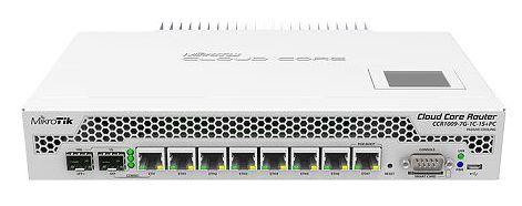 Фото - Маршрутизатор Mikrotik CCR1009-7G-1C-1S+PC with Tilera Tile-Gx9 CPU (9-cores, 1Ghz per core), 2GB RAM, 7xGbit LAN, 1x Combo port (1xGbit LAN or SFP), ccr1036 8g 2s em r2 cloud core router 1036 8g 2s em with tilera tile gx36 cpu 36 cores 1 2ghz per core 16gb ram 2xsfp cage 8xgbit lan routeros l6 1u rackmount case dual psu lcd panel