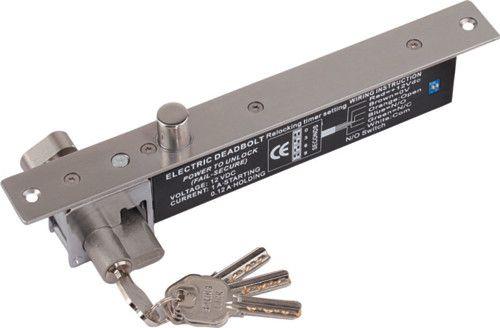 Замок AccordTec AT-EL600-2 электромеханический соленоидный, 12 В, 0,15 А (ждущий режим)/0,95 А (режим удержания), -10…+25 °С