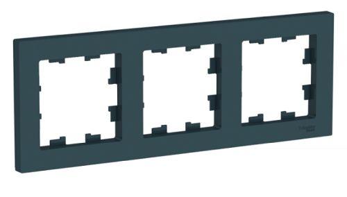Рамка Schneider Electric ATN000803 AtlasDesign 3-ая, универсальная изумруд